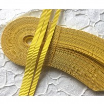 Korean corrugated strips for quilling, Bright yellow (10 pieces)