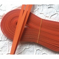 Korean corrugated strips for quilling, Orange (10 pieces)