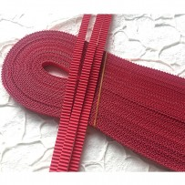 Korean corrugated strips for quilling, Red (10 pieces)
