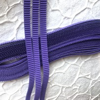 Korean corrugated strips for quilling, Violet (10 pieces)