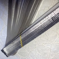 Korean corrugated strips for quilling, Silver (10 pieces)