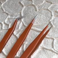 Tweezers for delicate works, Orange