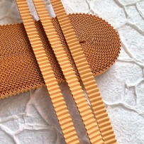 Korean corrugated strips for quilling, Pumpkin(10 pieces)