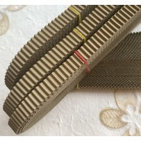 Korean corrugated strips for quilling, Khaki(10 pieces)