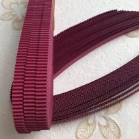 Korean corrugated strips for quilling, Crimson(10 pieces)
