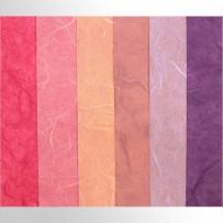 Тутовая бумага (розовые, фиолетовые оттенки)