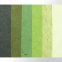 Тутовая бумага (зеленые оттенки)