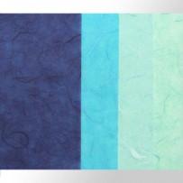 Тутовая бумага (синие оттенки)